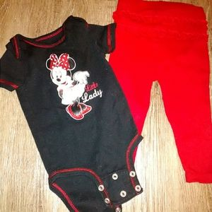 Minnie Mouse outfit w/ruffle bum pants Little Lady